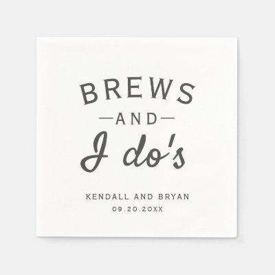 Brews and I Do's Brewery Wedding Napkins