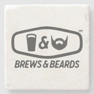 Brews & Beards Marble Stone Coaster