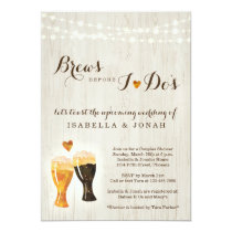 Brews Before I do's Beer Brewery Couple Shower Invitation