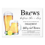 Brews Before the I Do's Engagement Party Invitation