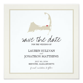 Brewster Cape Cod Wedding Save the Date Card