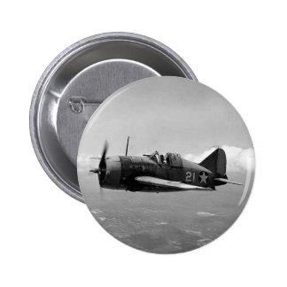 Brewster F2A Buffalo 2 Inch Round Button