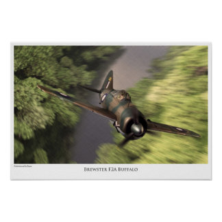Brewster F2A Buffalo Poster