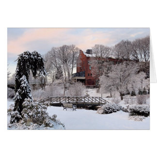Brewster Gardens in Winter Card