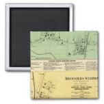 Brewsters Sta, Patterson 2 Inch Square Magnet