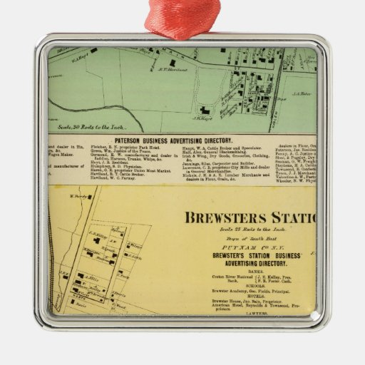 Brewsters Sta, Patterson Metal Ornament
