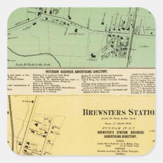 Brewsters Sta, Patterson Square Sticker