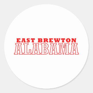 Brewton del este, Alabama Pegatina Redonda