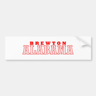 Brewton, diseño de la ciudad de Alabama Pegatina De Parachoque