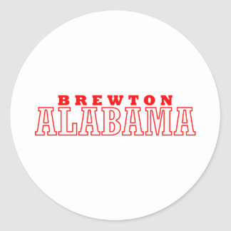 Brewton, diseño de la ciudad de Alabama Pegatina Redonda