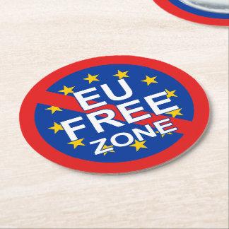 Brexit/Día de la Independencia BRITÁNICO Posavasos De Cartón Redondo