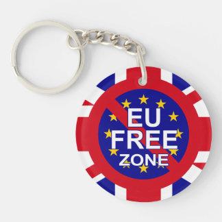 Brexit/Día de la Independencia Llavero Redondo Acrílico A Doble Cara