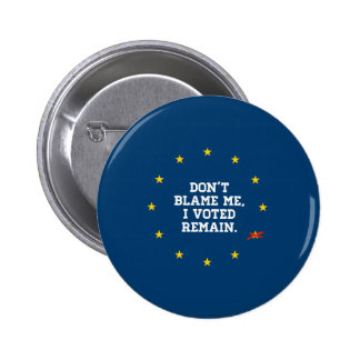 BREXIT - Don't Blame Me I voted Remain - -  Button