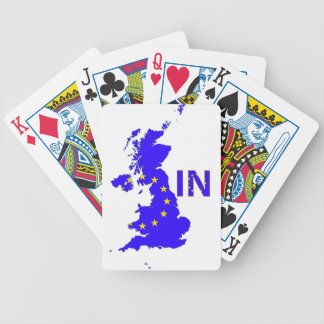 """BREXIT """"IN"""" UNION JACK BICYCLE PLAYING CARDS"""