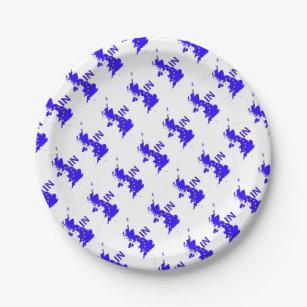 BREXIT  IN  UNION JACK PAPER PLATE  sc 1 st  Zazzle & European Union Plates | Zazzle