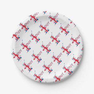 BREXIT OUT UNION JACK PAPER PLATE  sc 1 st  Zazzle & European Union Plates | Zazzle