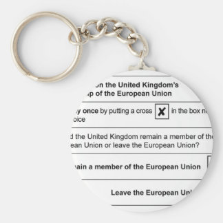 Brexit referendum in UK Keychain