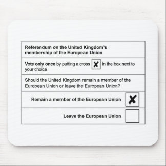 Brexit referendum in UK Mouse Pad