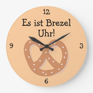 Brezel Uhr: Diversión de Oktoberfest del en punto  Reloj