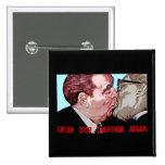 Brezhnev & Honecker Kiss,East Side Gallery, Berlin Button
