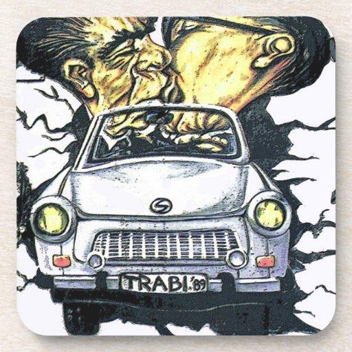 Brezhnev & Honecker, Trabant Car , Berlin (pst) Coasters