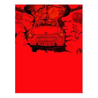 Brezhnev & Honecker,Trabant Car,Berlin - Red Postcard