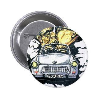 Brezhnev y Honeker, coche trabante, Berlín (pst) Pins