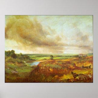 Brezo de Hampstead de John Constable Póster