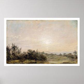 Brezo de Hampstead, mirando hacia la grada, 1821-2 Póster