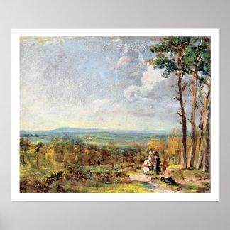 Brezo de Hampstead que mira hacia la grada, 1821 ( Póster