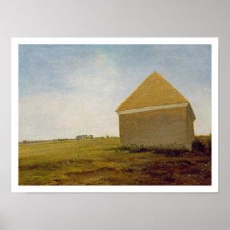 Brezo de Newmarket, con una casa del Frotamiento-A Póster
