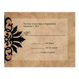 Brezo de RSVP del Flourish de la voluta de Belice Invitación Personalizada