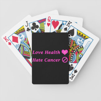 Brezo del amor, diseño de la caridad del cáncer de baraja cartas de poker