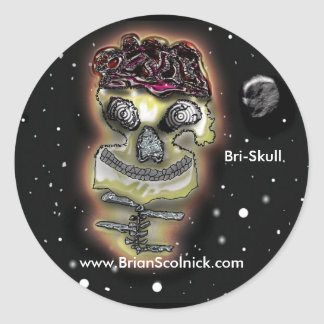 Bri-skull stickers