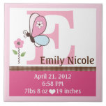 Bria Butterfly Letter Name Birth Info Tile