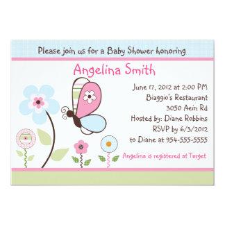 Bria Garden/Butterfly Baby Shower Invitation