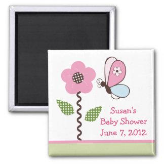 Bria Garden/Flower Magnet/Keepsake/ Favor 2 Inch Square Magnet
