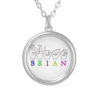 BRIAN ASL FINGERSPELLED NAME SIGN NECKLACES