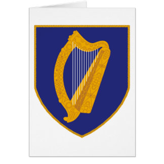 Brian Boru Harp - Symbol of Ireland Card