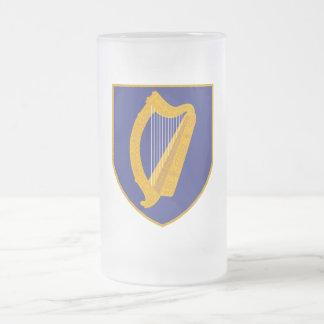 Brian Boru Harp - Symbol of Ireland 16 Oz Frosted Glass Beer Mug