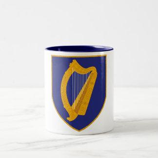 Brian Boru Harp - Symbol of Ireland Two-Tone Coffee Mug