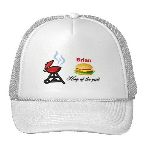 Brian king of the grill hat