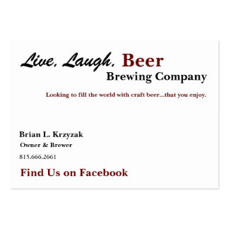 Brian L. Krzyzak, Owner Large Business Card