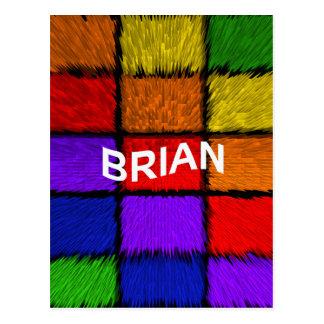 BRIAN ( male names ) Postcard