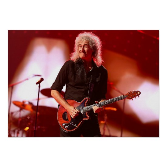 Brian May of Queen   iHeartRadio Music Festival Poster