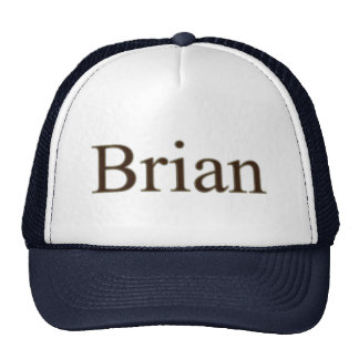 BRIAN Name Branded Personalised Gift Hat