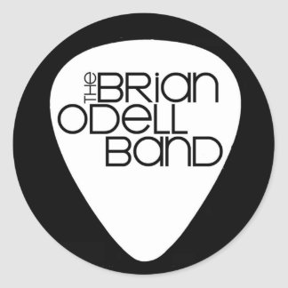 Brian Odell Band - B&W Guitar Pick Sticker