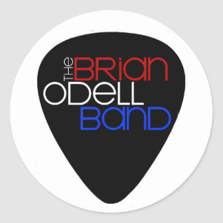Brian Odell Band - Color Guitar Pick Sticker
