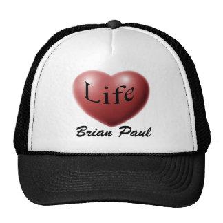 Brian Paul Love Life Black Trucker Hat