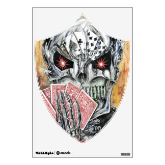 Brian Petty's The Dead Man's Hand wall cling Wall Sticker